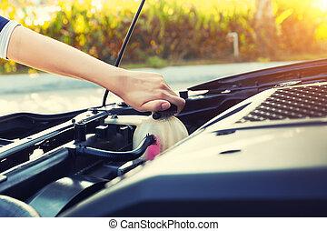 hűtőfolyadék, ellenőriz, autó