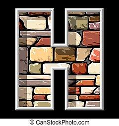 h, 石の文字