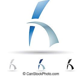 h, abstrakcyjny, litera, ikona