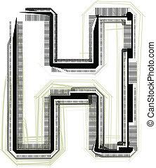 h, font., litera, techniczny