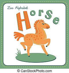 h, häst, -, brev