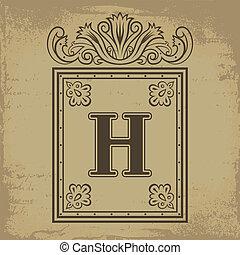 h, letra