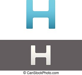 H Letter Alphabet Abstract vector text logo