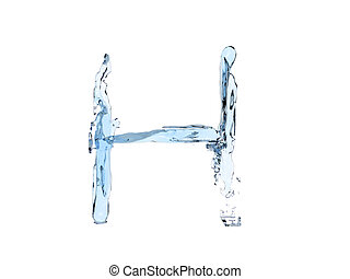 H letter water