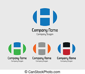 H logo vector Abstract icons
