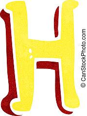 h, rysunek, litera