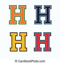 h, università, lettera