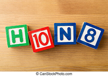 h10n8, jouet bois, bloc