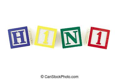 H1N1 Alphabet Blocks Viewed From Above