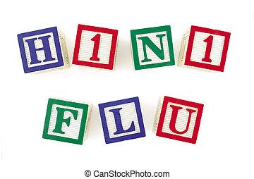 H1N1 FLU Alphabet Blocks Viewed From Above