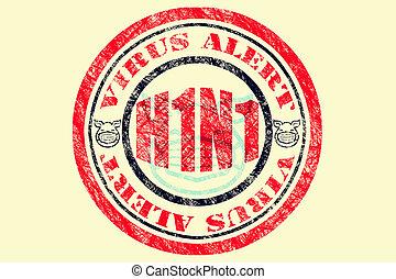 H1N1 Virus Alert Concept