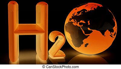 H2O. Formula of water