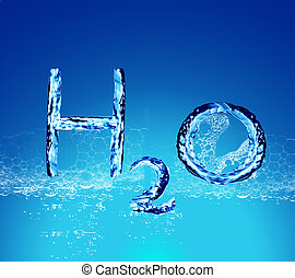 H2O water letters