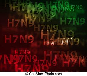h7n9, avian, flu, bokeh, baggrund