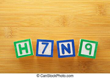 H7N9 toy block
