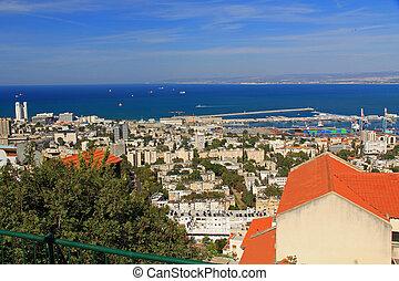 haïfa, isra, méditerranéen, port maritime