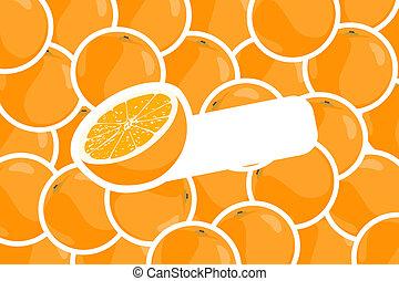 ha fatto pezzi, arance