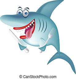 haai, hongerige