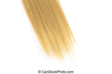 haar, recht, witte , vrijstaand, blonde