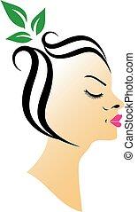 haar, spa, organisch, logo