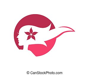 haar, symbool, vector, illustratie, pictogram