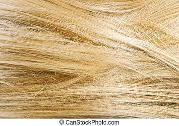 haar, vrouw, textuur, blonde