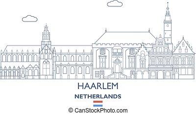Haarlem City Skyline, Netherlands