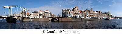 Haarlem skyline - A 180 degrees panoramic view over the...