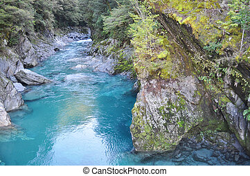 Haast river, New Zealand