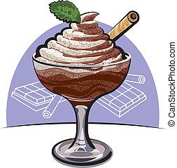 hab, csokoládé