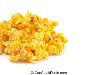 Habanero Flavored Cheese Popcorn on a White Background