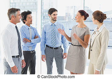 haben, versammlung, geschaeftswelt, employee's
