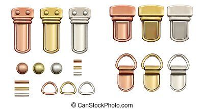 Haberdashery accessories. Set Metal locks for bags.