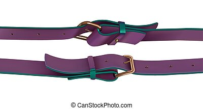 Haberdashery accessories. Straps with buckle purple color....