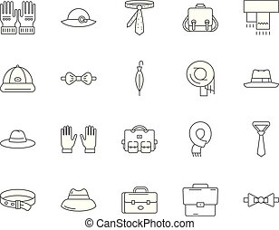Haberdashery line icons, signs, vector set, outline...