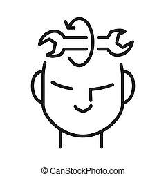 habilidade, aprendizagem, ilustração, desenho