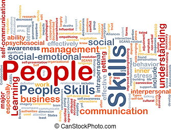 habilidades, concepto, personas de plano de fondo