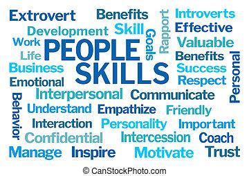 habilidades, gente, palabra, nube