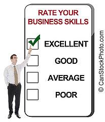 habilidades, tasa, empresa / negocio
