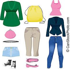 habillement, collection, femmes