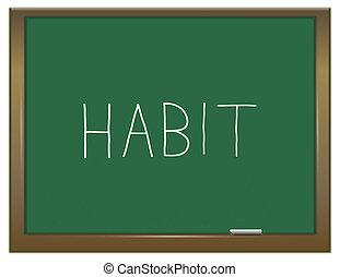 Habit word concept. - Illustration depicting a green...