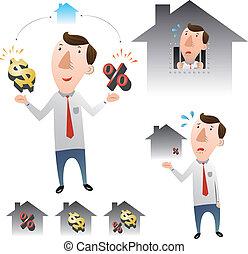 habitação, conceito, empréstimos