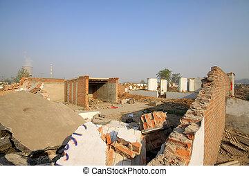 habitação, demolição, materiais