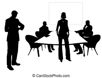 habitación de reunión, empresarios