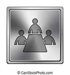 habitación de reunión, icono