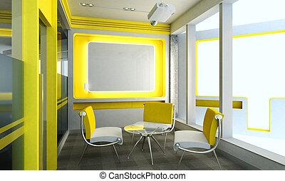 habitación de reunión, oficina