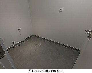 habitación, espacio, room., vacante, almacenamiento, flooring., oscuridad, concreto, vacío, de madera, style., tienda