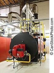 habitación, gas, calderas, producción, caldera, vapor