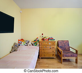habitación, guardería infantil