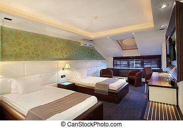 habitación, hotel